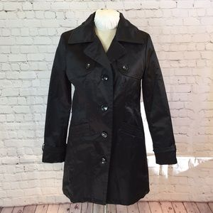 Apt 9 black trench coat w quilted lining
